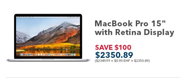 MacBook Pro 15in. with Retina Display