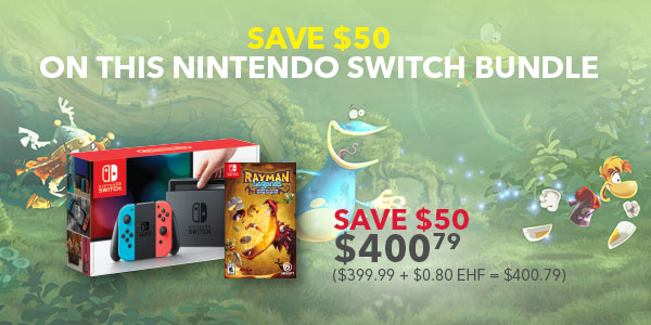 SAVE $50 ON NINTENDO SWITCH BUNDLE