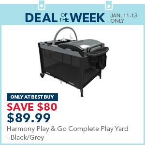 Harmony Play & Go Complete Play Yard - Black/Grey