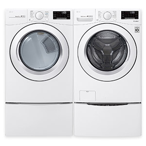LG High Efficiency Front Load Washer & Dryer 7.0 Cu. Ft. Electric Steam Dryer