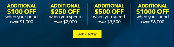 Additional discount when you spend over $1000 on major kitchen appliances