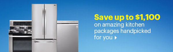Save up to $1100 on amazing kitchen packages handpicked for you