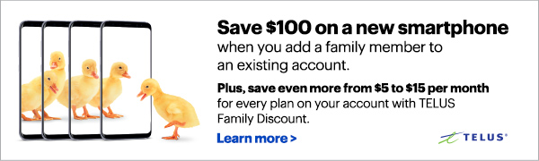 Save $100 on a new smartphone when you add a family member to an existing account